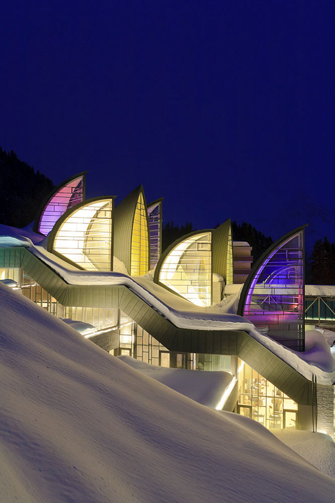 Grand Hotel Tschuggen Bergoase, Arosa, Switzerland, Mario Botta architect